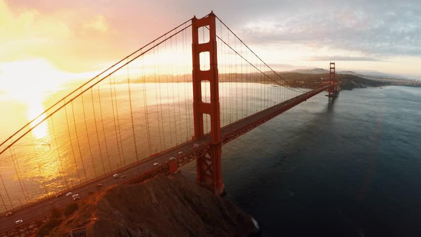 Aerial view of Golden Gate bridge San Fransisco  #28868767