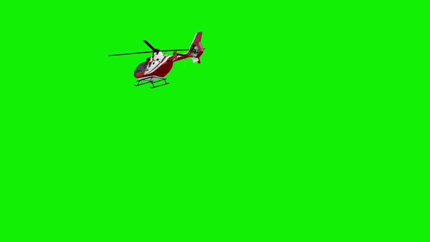 Helicopter on chromakey.Slow motion #28910053