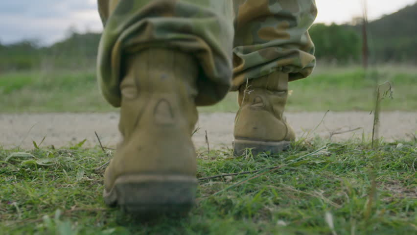 Soldiers' feet walking | Shutterstock HD Video #28917097