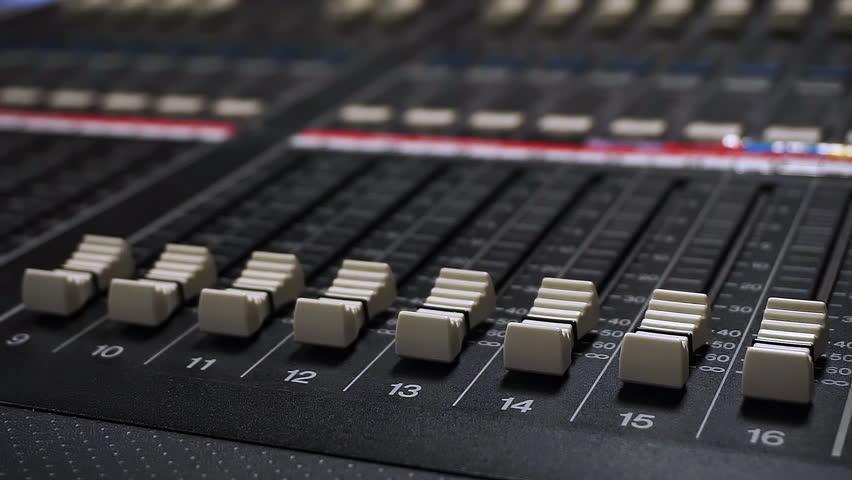 Sound Mixer, Hands Using Sliders for Adjusting Sound | Shutterstock HD Video #28927861