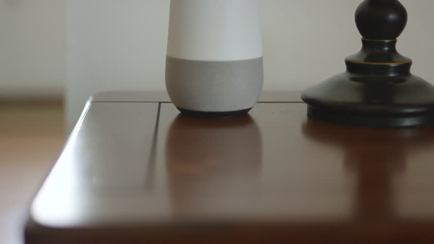 Smart Home Voice Controlled Gadget Responding To Command | Shutterstock HD Video #28941817