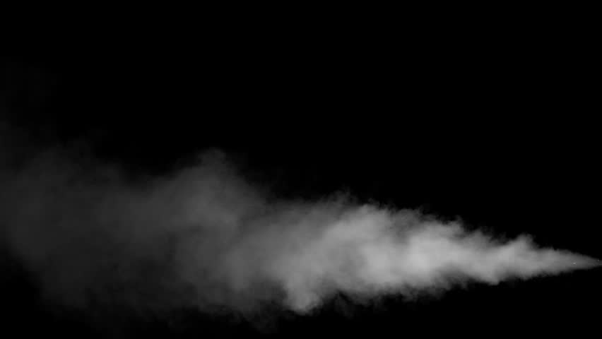 White water vapour on a black background. Close-up shot #28955971