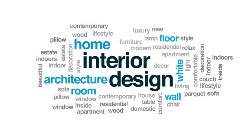 Interior Design Animated Word Cloud Stock Footage Video 100 Royalty Free 28965385 Shutterstock