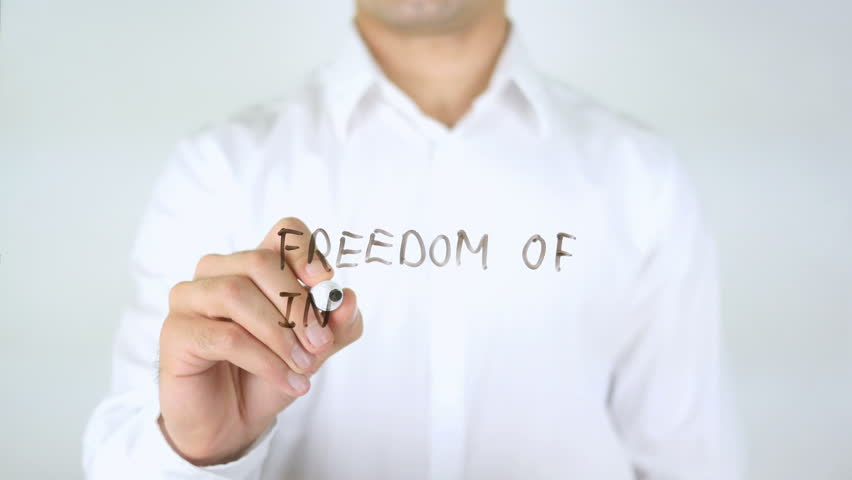 Freedom Of Information, Businessman Writing on Glass   Shutterstock HD Video #28969468