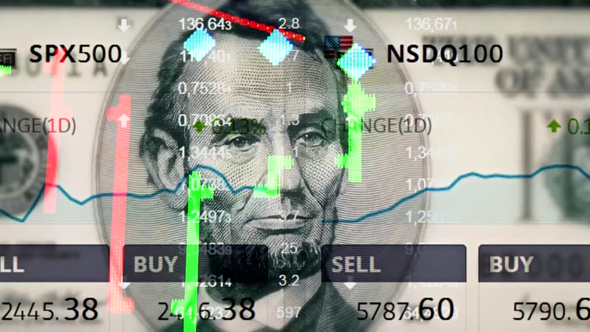 New universal USA stock market price quotes and chart opening dynamic animated motion video footage with people president (not Trump, not Obama) unique quality animated motion seamless loop