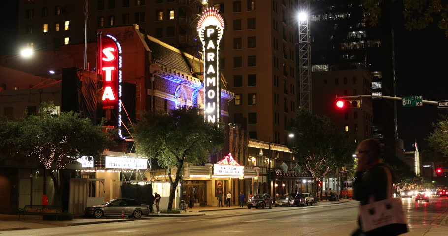AUSTIN, USA - NOVEMBER 10, 2016: Congress Avenue and the historic Paramount Theatre in downtown
