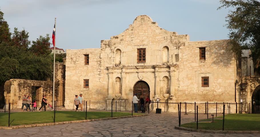 SAN ANTONIO, USA - NOVEMBER 7, 2016: Alamo Mission in San Antonio Texas USA