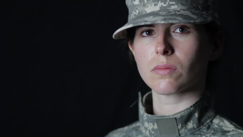 Determined female soldier 1080p