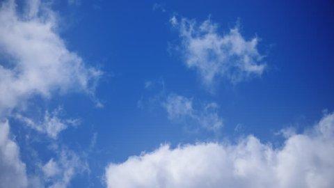 blue sky clouds time lapse