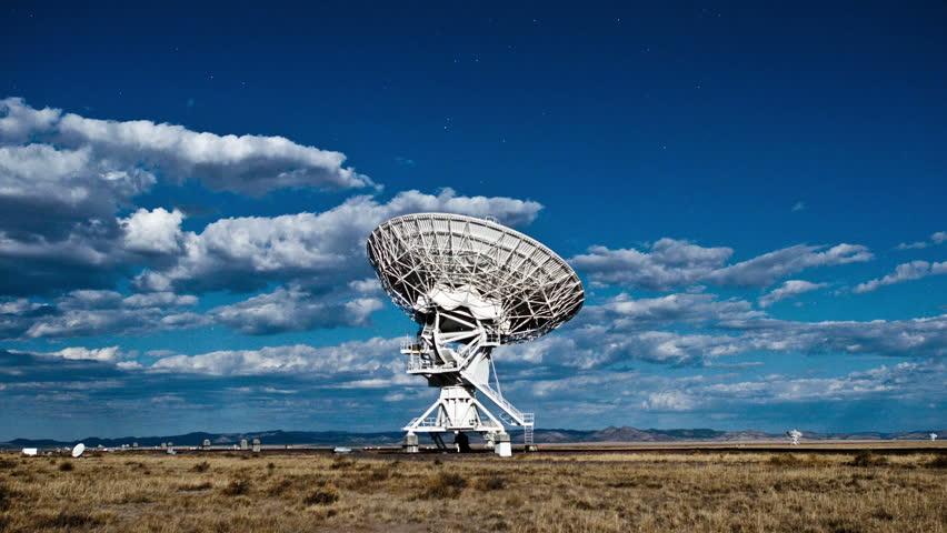 Cloudy sky above dish antenna | Shutterstock HD Video #29032876