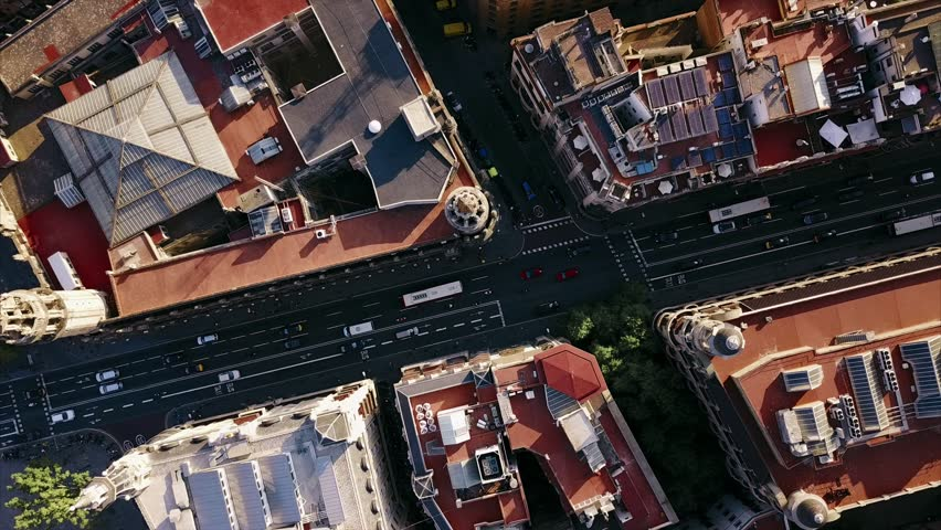 summer day barcelona cityscape aerial panorama 4k time lapse spain #29034637