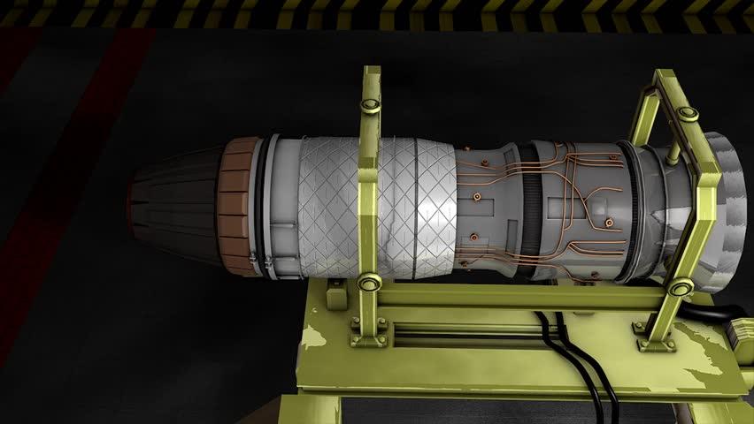 Jet engine test fired.