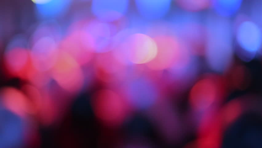 Blurred lighting in Pub & Restaurant for party background. Low light toned image.  Music and Bokeh for background concept.