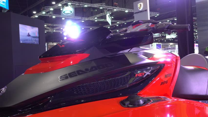 28 March Bangkok, Thailand. Jet Ski on display at the 38th Bangkok International Auto Show at the Impact Centre. #29098612