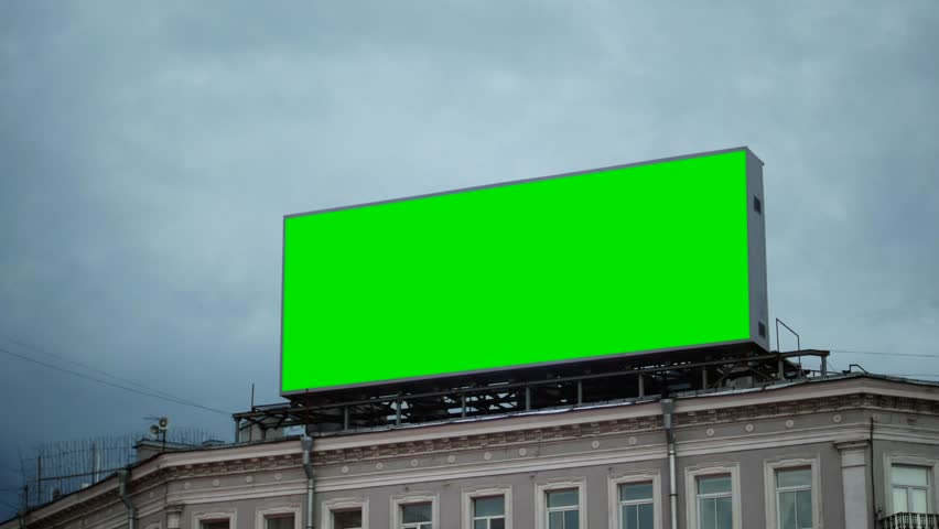 A Billboard with a Green Screen on the Building.Time Lapse | Shutterstock HD Video #29098870