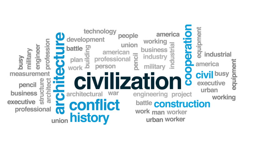 Civilization animated word cloud, text design animation. | Shutterstock HD Video #29100058