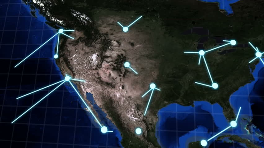 High definition animation of a network spreading rapidly across the globe. Can be used to portray a network between many countries, spreading disease or virus, social media, international travel, etc. | Shutterstock HD Video #2910730
