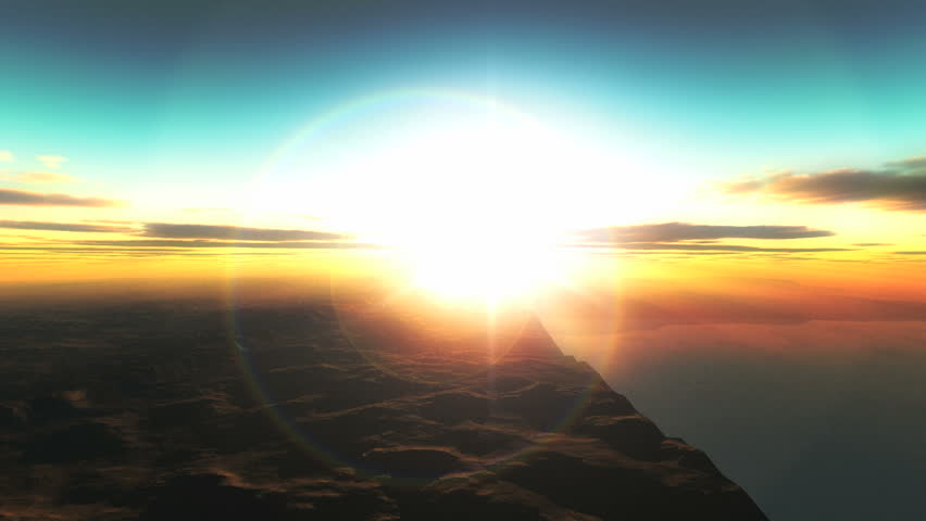 Planet fly sunrise | Shutterstock HD Video #2910916