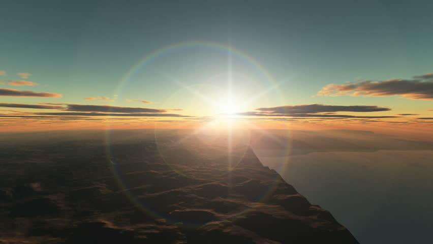 Planet fly sunrise | Shutterstock HD Video #2910952
