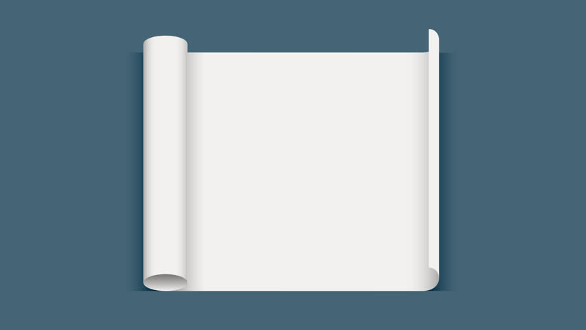 Roll paper. Sheet of paper. White sheet is twisted. 3d animation with transparency. | Shutterstock HD Video #29137363
