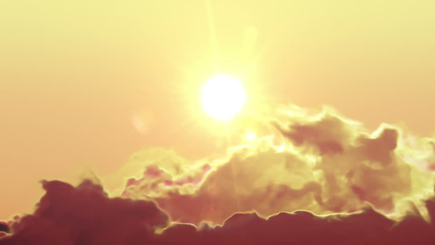Beautiful Clean Sunrise Time Lapse with Huge Sun. HD 1080.