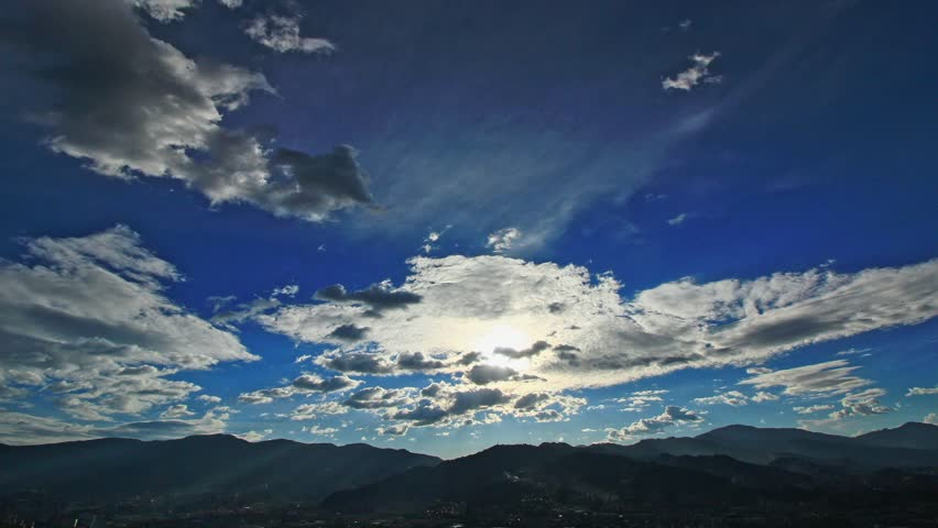 A time lapse of the clouds with a horizon of mountains, from day to night.   Shutterstock HD Video #29200741