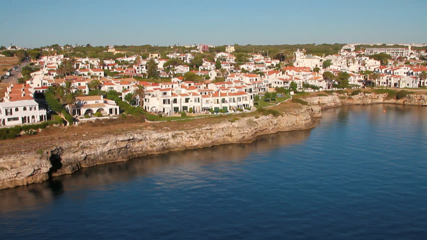 City on coast of many kilometers gulf. Mahon, Minorca, Spain | Shutterstock HD Video #29238088