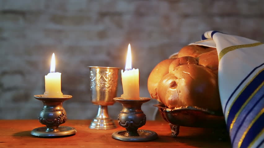 Shabbat Candles in Glass Candlesticks Stock Footage Video (100%  Royalty-free) 29250346 | Shutterstock