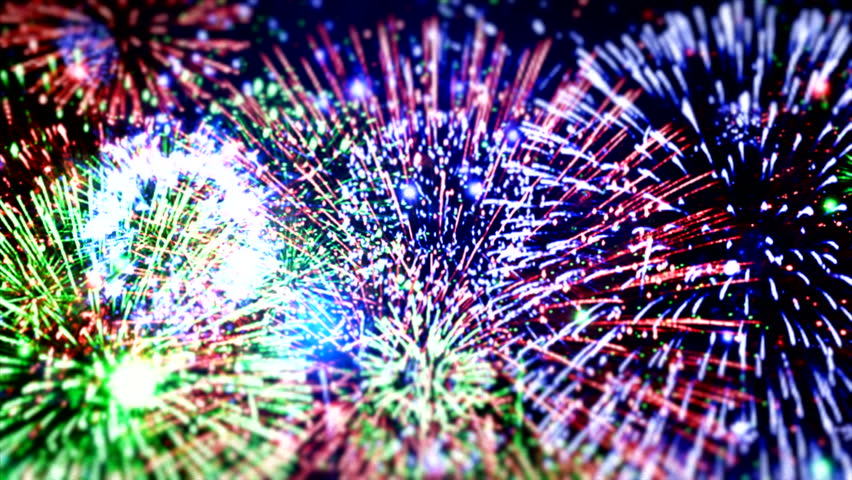 Amazing fireworks Happy New Year Eve greeting particles colorful sparks black night sky colored amazing motion fireworks background Enjoying Beautiful Fireworks display Show Romantic christmas night #2925334