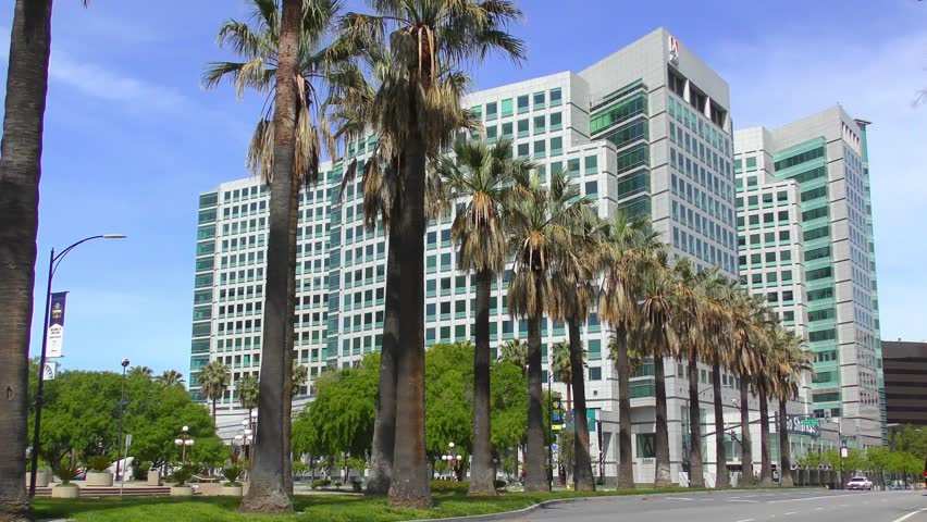 SAN JOSE, CALIFORNIA, USA - 15 APRIL 2017: Adobe Systems headquarters at the Park Avenue in downtown San Jose
