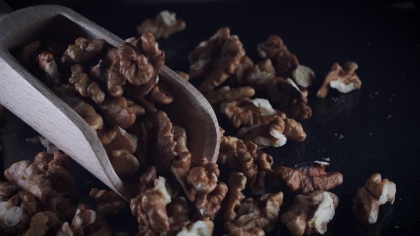 4k Dolly Shot of Wallnuts in Scoop | Shutterstock HD Video #29265655