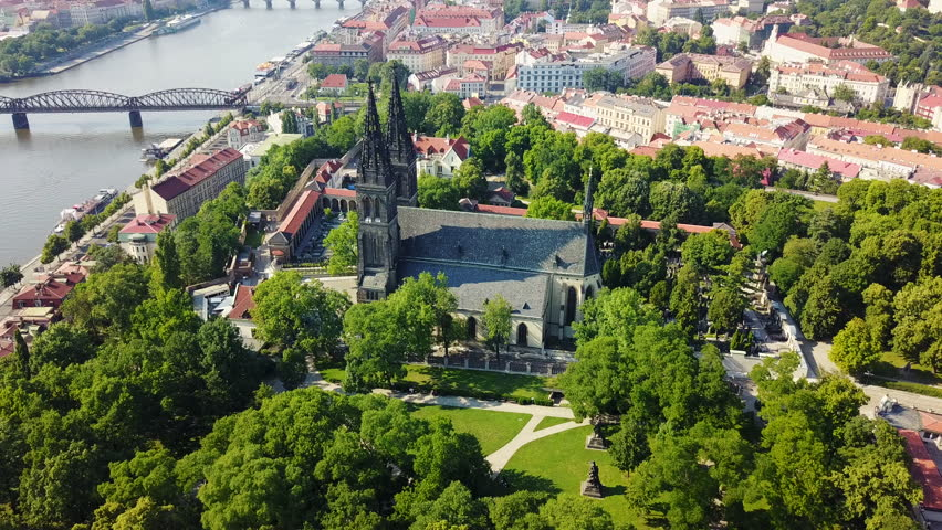 Aerial View of Basilica of Saint Peter and Paul in Prague Old Town | Shutterstock HD Video #29300737