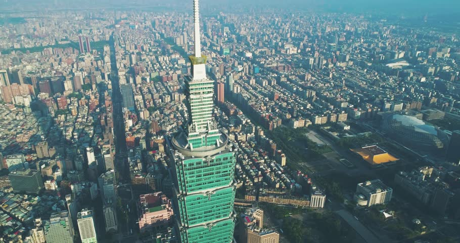 Aerial shot of Taipei 101