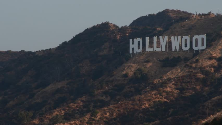 Los Angeles, California/USA-July 16 2017:A view of the Hollywood Sign   Shutterstock HD Video #29373442