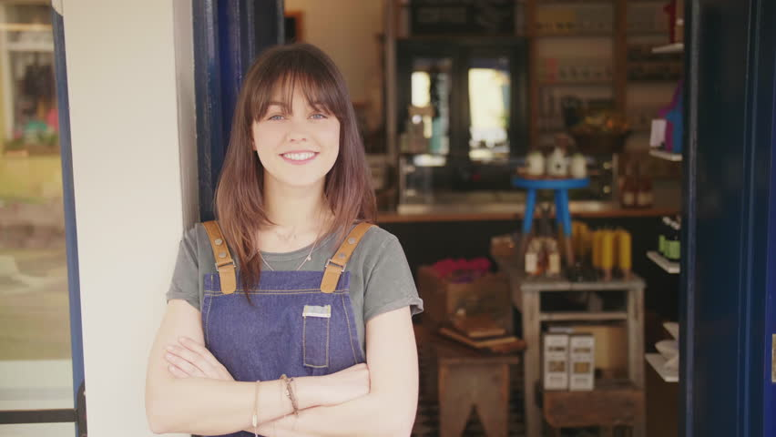 Portrait Of Smiling Deli Owner Standing Arms Crossed Outside Store | Shutterstock HD Video #29402527