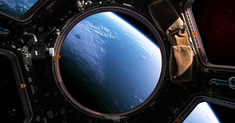 Planet earth as viewed through the windows of a space shuttle - version 2.