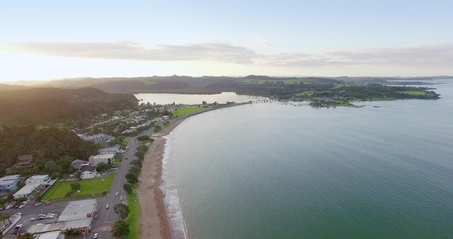 Aerial of Paihia and waitangi, Northland, New Zealand | Shutterstock HD Video #29443387