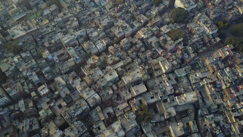 Backwards Sweeping Aerial Drone Shot of Central Delhi   Shutterstock HD Video #29447473