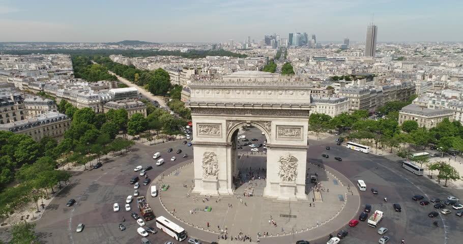 Aerial view of Arc of Triumph, Paris  | Shutterstock HD Video #29481724