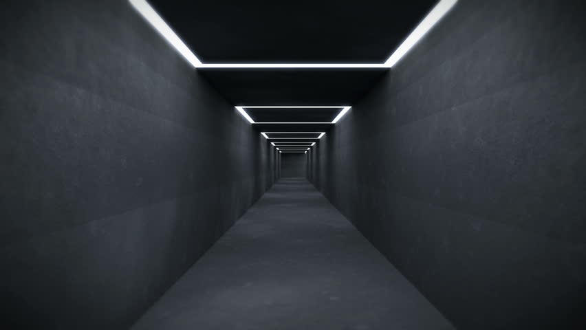 Moving through a Tunnel System with endless Corridors and many changing Directions. The File is Looping and gives a sullen Impression (3D Rendering) | Shutterstock HD Video #29491960