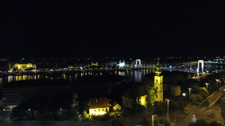 Budapest panning over Danube at night | Shutterstock HD Video #29505055