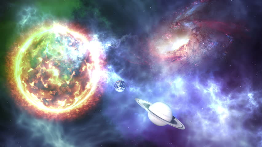 Sun Colorful Galaxies And Stars Stock Footage Video 100 Royalty Free 29506408 Shutterstock
