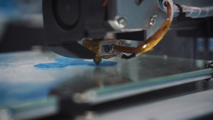 Three dimensional printer during work in school laboratory, 3D plastic printer, 3D printing. | Shutterstock HD Video #29543587