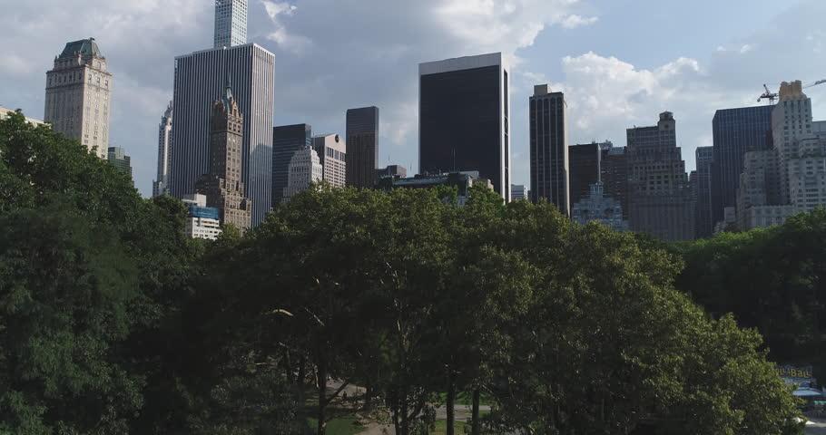 Aerial view of Manhattan skyline, New York City  | Shutterstock HD Video #29561104