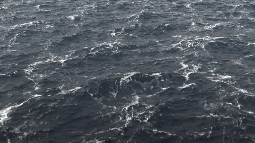 Flight Over The Stormy Ocean / Stormy North Sea. High Quality footage in ProRes HQ codec, 25 FPS.
