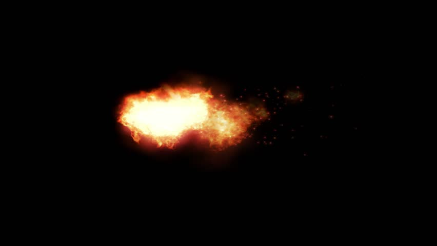 Rocket Fire Flame Animation Motion Graphic Element