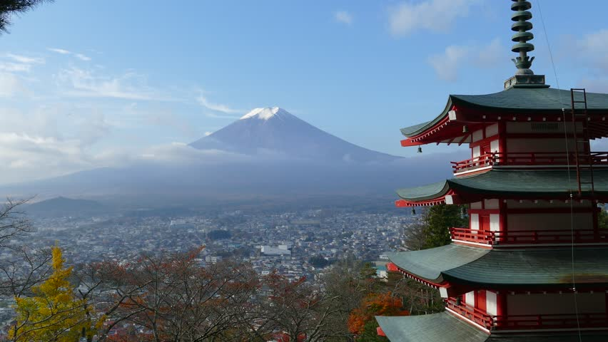 Imaging of Mt. Fuji autumn with red maple leaves, Japan | Shutterstock HD Video #29679124