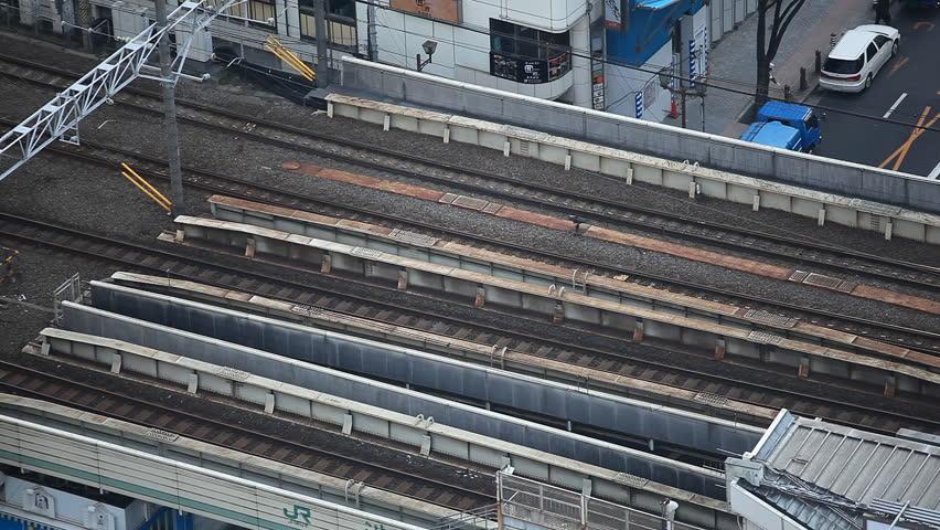Tokyo Railway, Japan, Regional Train Passing, Speed Train, Metropolitan Area | Shutterstock HD Video #2969122