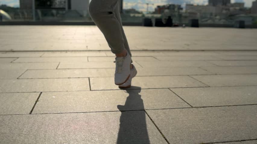 Tracking shot of a sporty man running   Shutterstock HD Video #29691526