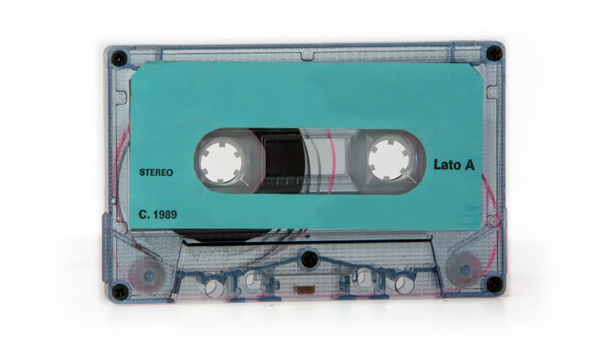 changing audio tape cassettes turn through 360 degrees. all logos removed